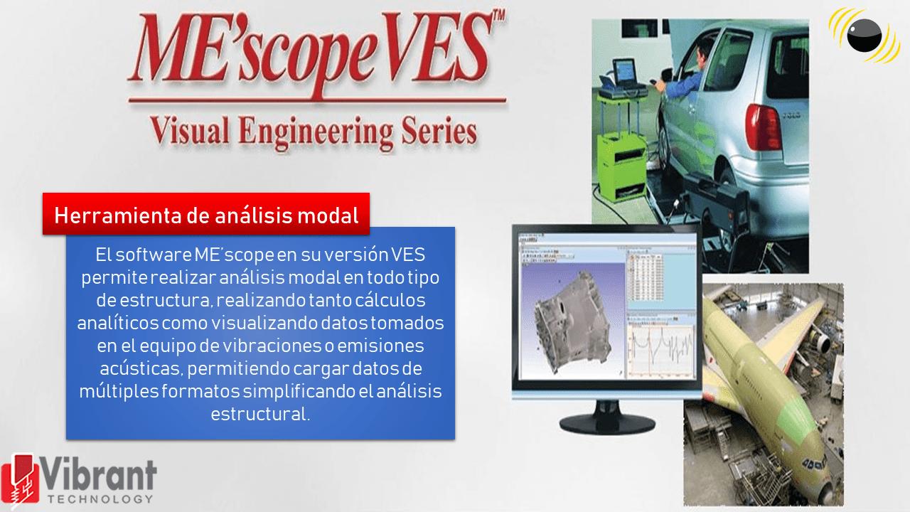 Software MEscope de Vibrant Tech.